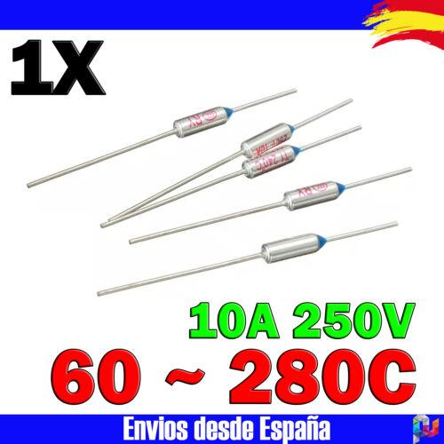 Fusible termico axial 60 ~ 240 C 10A fusibles térmicos temperatura termofusible