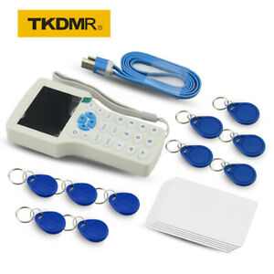 NEW-English-10-Frequency-ID-IC-RFID-Copier-Reader-Writer-125KHZ-Rewritable-Card