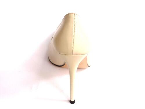 Panna In E Pelle Decollette Swarovski Elements Neri 37 Alto Scarpe Donna Tacco wTUqBfx