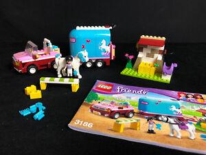 Lego 3186 Friends Emma's Horse Trailer Véhicule tout-terrain Avec remorque pour chevaux