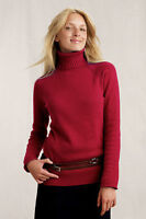 Land's End Canvas Women's Turtleneck Sweater Rich Red Xs X-small 2 4