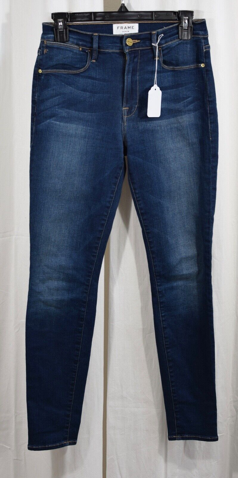 Frame Le High Ankle Skinny Jeans Columbia Road Size 26 x 28