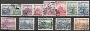 Stamp-Germany-Bohemia-Czechoslovakia-Mi-025-37-Sc-27-39-1940-WWII-Fascism-U