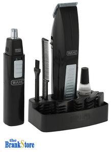 cordless hair trimmer kit beard shaving clipper ear nose. Black Bedroom Furniture Sets. Home Design Ideas