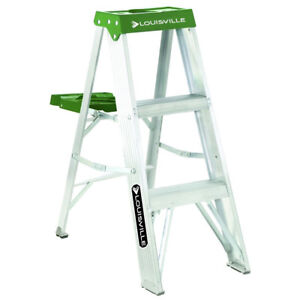 Prime Details About Louisville Ladder 3 Ft Type Ii Aluminium Step Ladder W Pail Shelf As4003 New Pabps2019 Chair Design Images Pabps2019Com