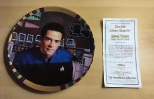 STAR-TREK-DEEP-SPACE-NINE-DOCTOR-034-JULIAN-BASHIR-034-COLLECTOR-PLATE-w-COA