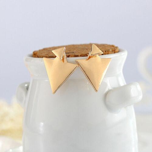 TOUT SIMPLEMENT géométrique Big Petit Triangle Dangle Ear Stud Clip Boucles D/'oreilles Femmes Bijoux