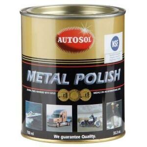 autosol metal polish paste 750ml tin solvol chrome aluminium cleaner 0402 ebay. Black Bedroom Furniture Sets. Home Design Ideas
