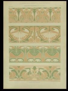 Jugendstil Ornamente 1901 Lithographie Art Nouveau Petitjean Ebay