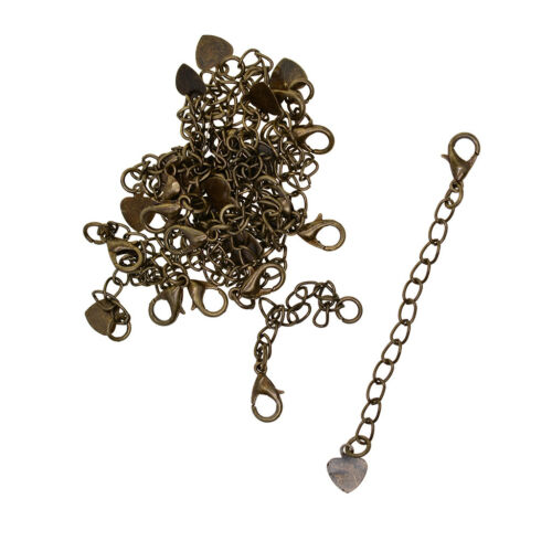 20pcs Necklace Chain Extender Extension Chain Lobster Clasp Jewelry Findings