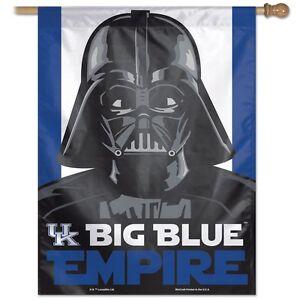 """KENTUCKY WILDCATS BIG BLUE EMPIRE DARTH VADER 27""""X37"""" BANNER FLAG NEW WINCRAFT"""