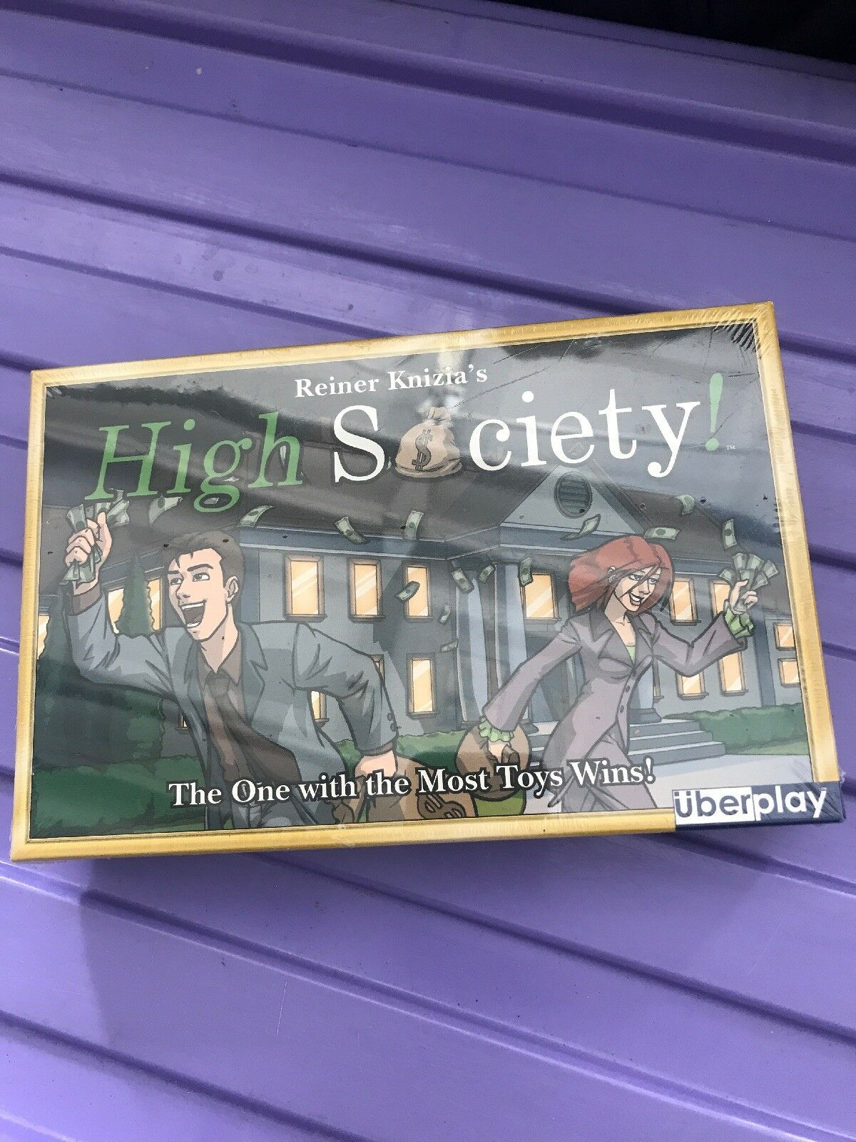 Uberplay Boardgame High Society Box NM  The one with the most toys wins