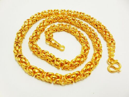 Deluxe 22K 23K 24K THAI BAHT GOLD GP NECKLACE 26 inch 90 Grams 8 mm Jewelry