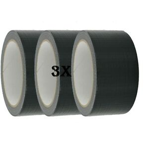 3X-Duck-Strong-Adhesive-Duct-Gaffa-Gaffer-Waterproof-Cloth-Tape-Black-48mmx50m