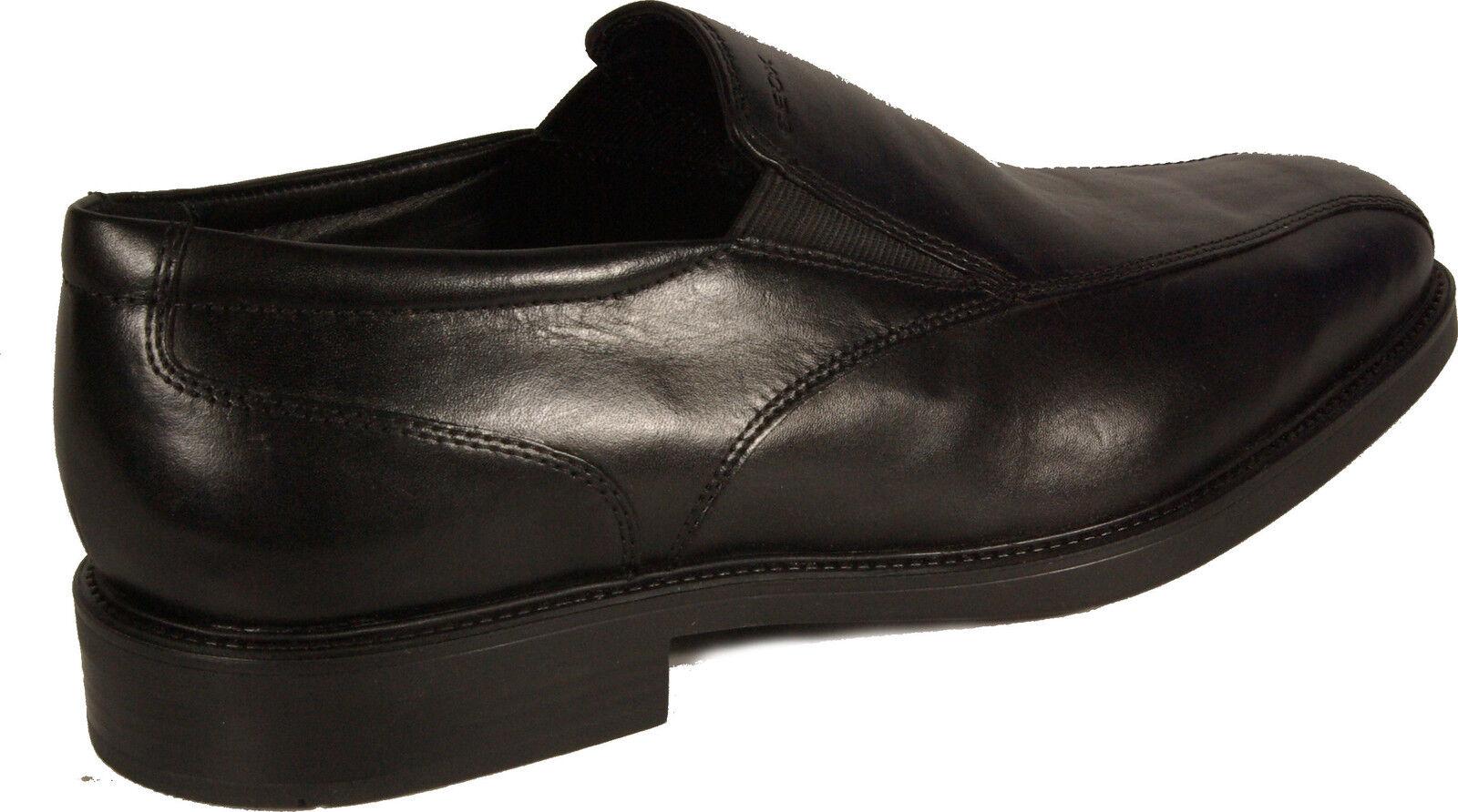 GEOX GEOX GEOX Schuhe Slipper Business schwarz Mod. U LONDRA Gummisohle Leder NEU ff1a0d