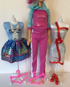 Barbie Steffi Sindy Fashion Doll Dress Shoes Hangers Clothes Bundle Lot 17 Ebay