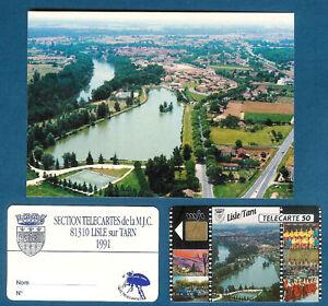 Lac Lisle-sur-Tarn - Tc privée 50U - En 51a - 05-91 + CP vue & carte adhérent wOU7Py3f-09154950-930857314