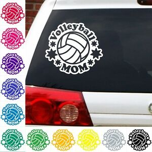 Volleyball-Mom-decal-net-sports-beach-sticker-car-truck