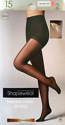 black Body Bliss BHS S XL small 3 pair pack soft shine tights 15 denier nearly