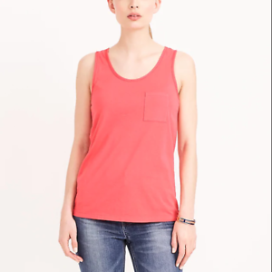 women-039-s-J-CREW-Factory-Garment-Dyed-Tank-Coral-100-Cotton-2017-Top-Small