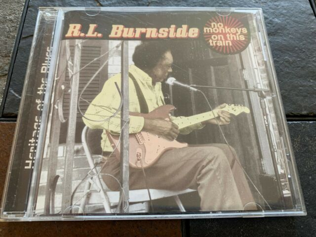 R.L BURNSIDE HERITAGE OF THE BLUES NO MONKEYS ON THIS TRAIN CD ITEM #3400-15