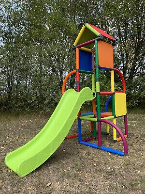 Move and stic Toni Kletterturm mit Rutsche Klettergerüst Spielturm multicolor