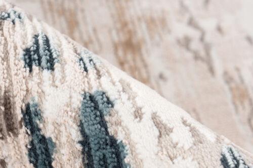 Teppich Vintage Fransen Weich Gemütlich Wohnzimmer Creme Beige Blau 200x300cm