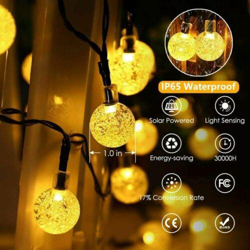 Solar String Lights 23FT 50LED Copper Wire Fairy Light Garden Decor USA