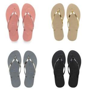 Havaianas-You-Metallic-Flip-Flops-Women-Summer-Beach-Sandals-Wide-Range-Colours