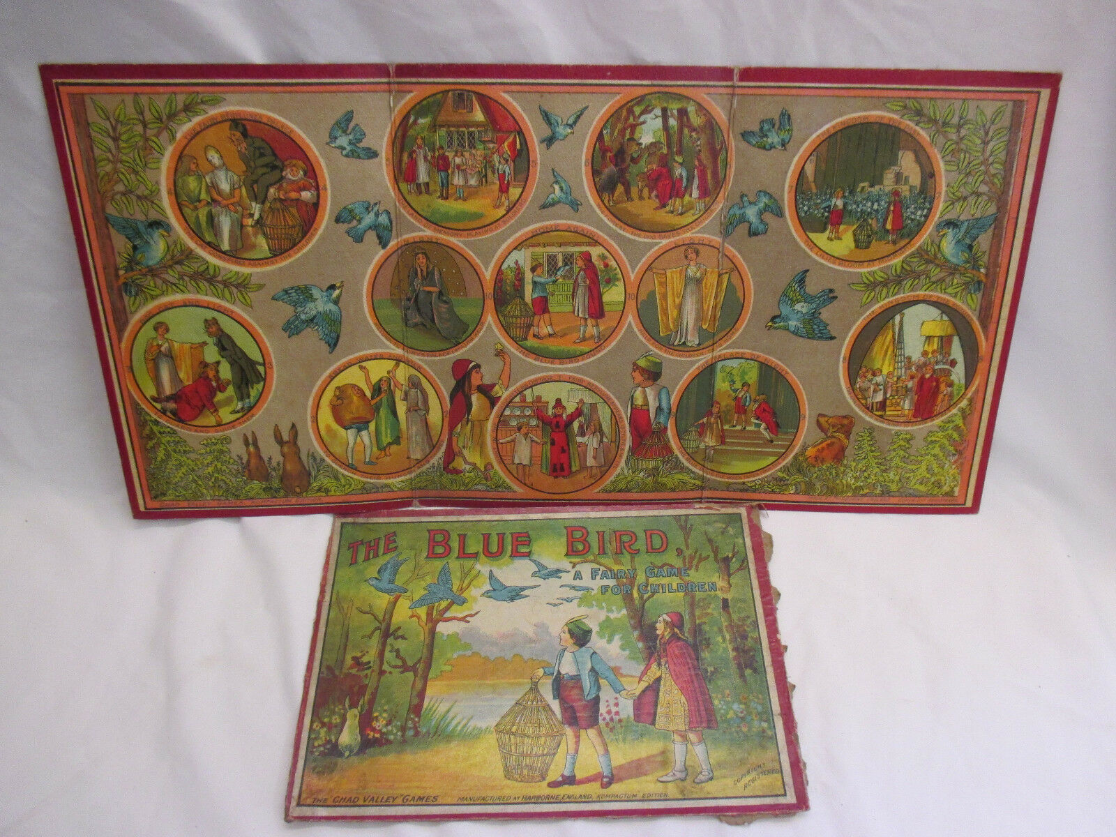 Rare Early Vintage Chad Valley Board Game - bluee Bird Tiddlywinks (B)