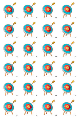 Cupcake Toppers x20 tiro con arco fácil utilizar papel de Arroz Hojas De Fondant Glaseado 1083