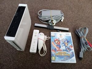 Nintendo Wii Console Full Set Up 1 Game Fully Working Mario
