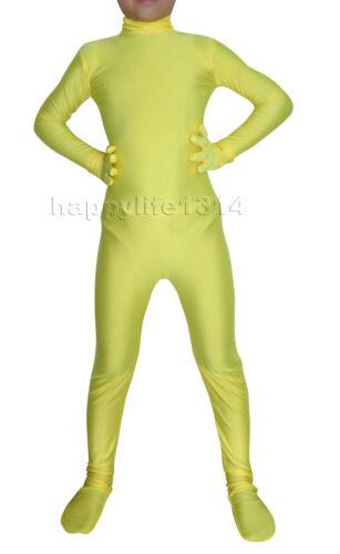Headless Kid enfants Lycra Spandex Zentai Costume Body Catsuit Combinaison Moulante