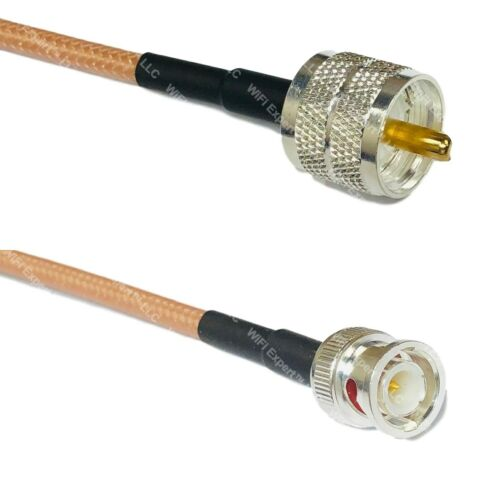 USA-CA RG142 PL259 to BNC MALE Coaxial RF Pigtail Cable