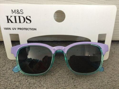 M/&s lilas /& aqua Filles Lunettes de soleil en forme carrée avec 100/% Protection UV-Bnwt