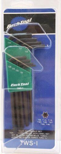 Park Tool TWS-1 8-Pièce L-Shaped Torx Compatible Vélo Clé Set avec support