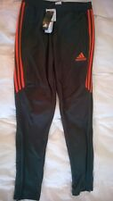 adidas Men's Tiro 17 Soccer Training Pants Large Dark Grey / Orange MSRP $45