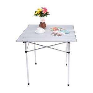 Tavolo Da Campeggio Alluminio.Tavolino Da Picnic 70x70x70cm Tavolo Da Campeggio In Lega