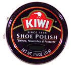 3 Tins Kiwi Shoe Polish Brown 1 1/8 Oz 32g