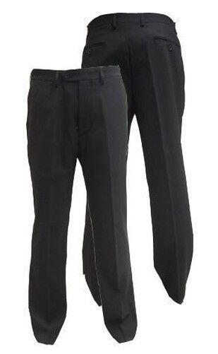 Herren Poly-Viskose weicher Stoff glatt vorne Anzug Hose ( Cruz) Taille 30-60