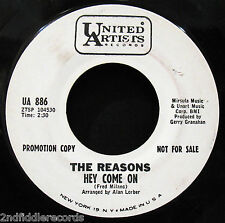 THE REASONS-Come Go With Me+Hey Come On-Girl Group-Northern Soul DJ 45-UA 886