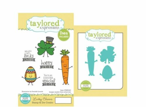 Taylored Expressions Rubber Cling Stamp /& Die 6 3 Set ~ LUCKY CHARM ~TEPS183