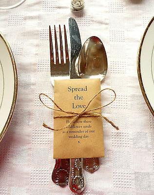 Appena 10 X Wildflower Semi Wedding Favori-personalizzare-eco Friendly B1-mostra Il Titolo Originale Promuovi La Produzione Di Fluidi Corporei E Saliva