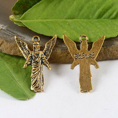 7-ARCHANGEL CHARMS To Pick Tibetan silver //dark gold color Crafted Charms