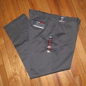 48 50 NWT 44 46 Roundtree Mens Black Microfiber Pleat Cuffed Travel Pants 38
