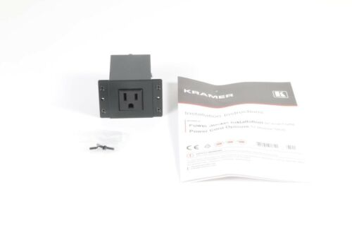 7291063018757 New Open Box Kramer TS-1US Single Power Socket 80-000999