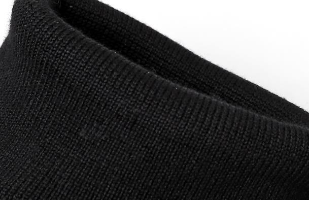 Women Square Toe Wedge Wedge Wedge High Heels Platform Stretchy Sock Mid Calf Boots Black 2a60c6