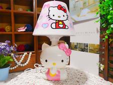 fashion cartoon hellokitty desk lamp with USB plug phone charging bedroom light
