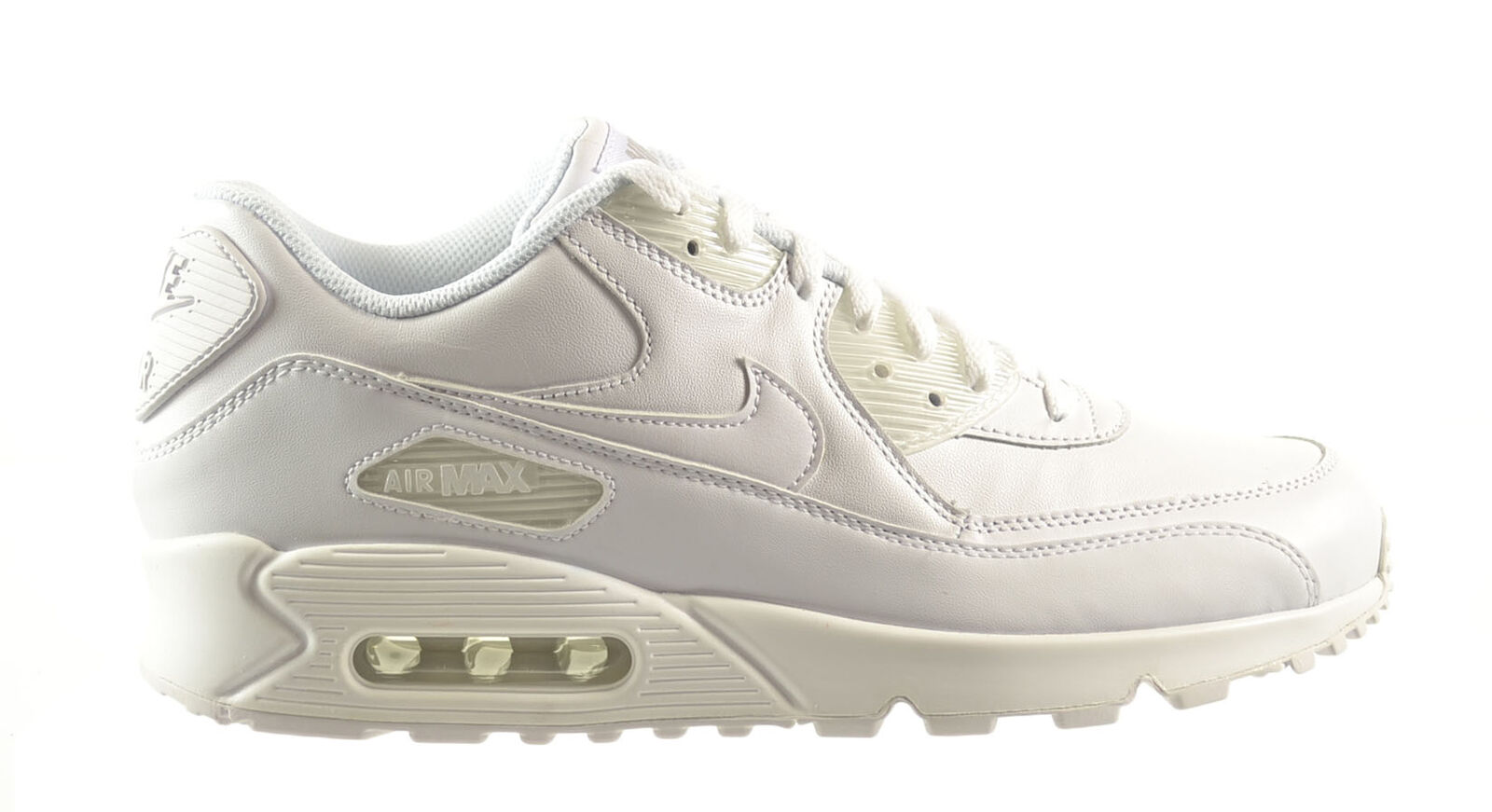 Nike Air Max 90 Leather Men's Shoes White/White 302519-113