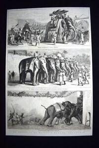 Il-Principe-di-Galles-Albert-Edward-a-Baroda-nell-039-India-Incisione-del-1876